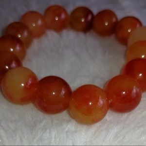 Jewelry - Orange Chinese Stone Bracelet